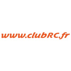 Le sticker adresse Club RC monocolore
