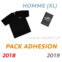 Adhésion Homme : T-shirt taille XL