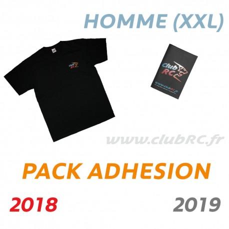 Adhésion Homme : T-shirt taille XXL