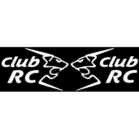 Les stickers de custodes Club RC monocolore