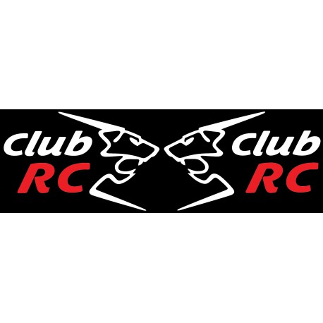 Les stickers de custodes Club RC bicolore