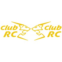 Les stickers de custodes Club RC monocolore