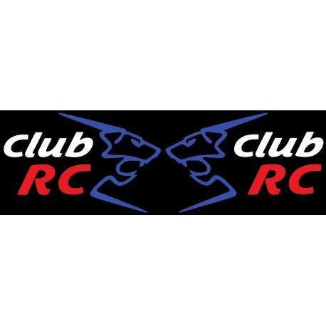 Les stickers de custodes Club RC tricolore