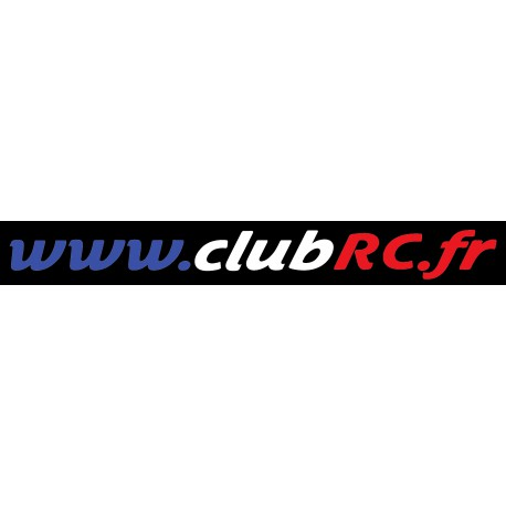 Le sticker adresse Club RC tricolore